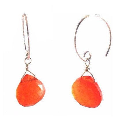 Carnelian Briolette Earrings, $19 | Sterling Silver Earrings | Light Years Jewelry