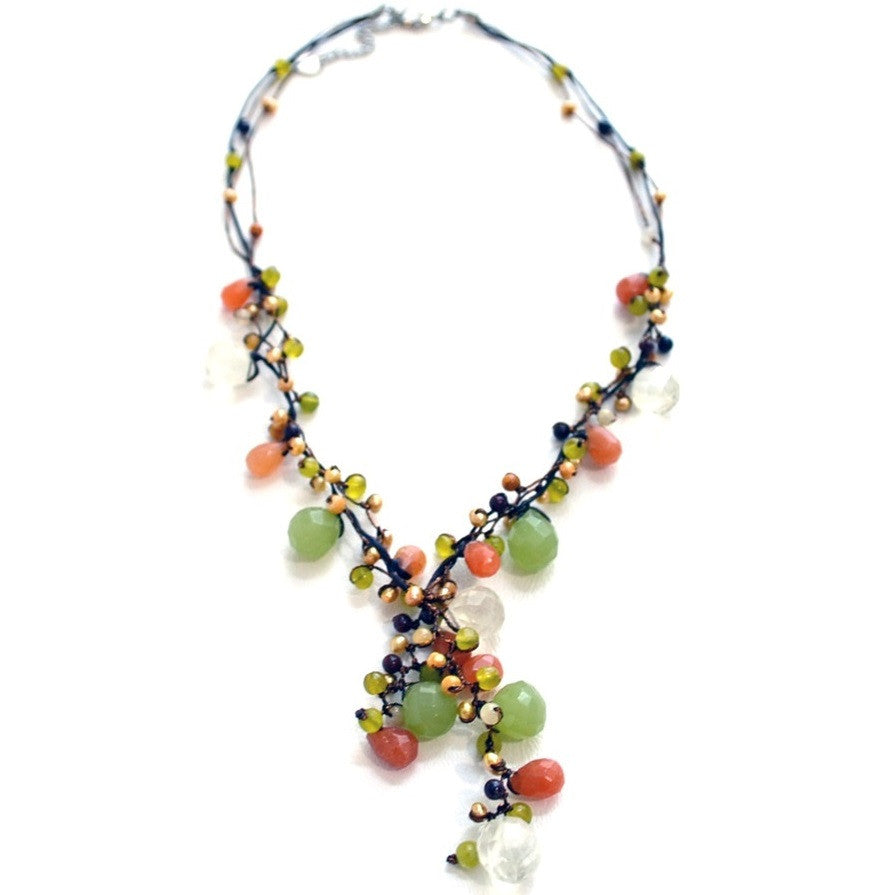 Pearl Briolette Necklace with Silk Cord, $28 | Light Years Jewelry