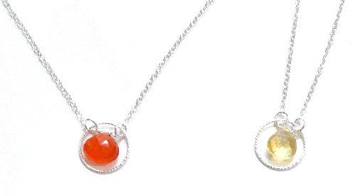 Carnelian, Citrine | Briolette Necklace, $36 | Sterling Silver | Light Years Jewelry