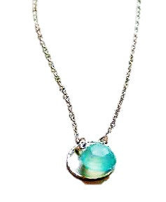 Chalcedony Briolette Necklace, $36 | Sterling Silver | Light Years Jewelry