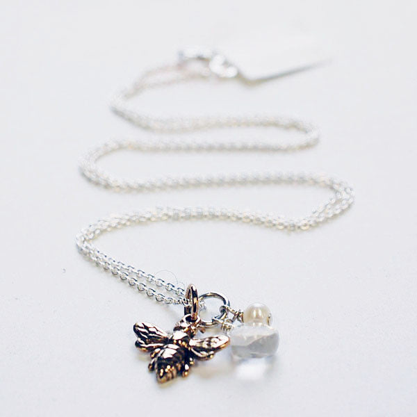 Bronze Bee Necklace, $38 | Sterling Silver | Light Years Jewelry