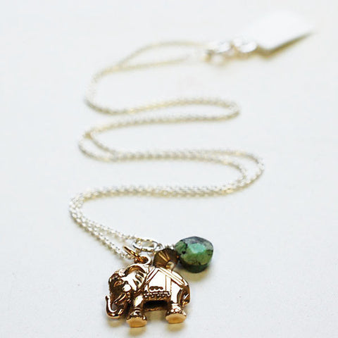 Bronze Elephant Necklace, $38 | Sterling Silver | Light Years Jewelry