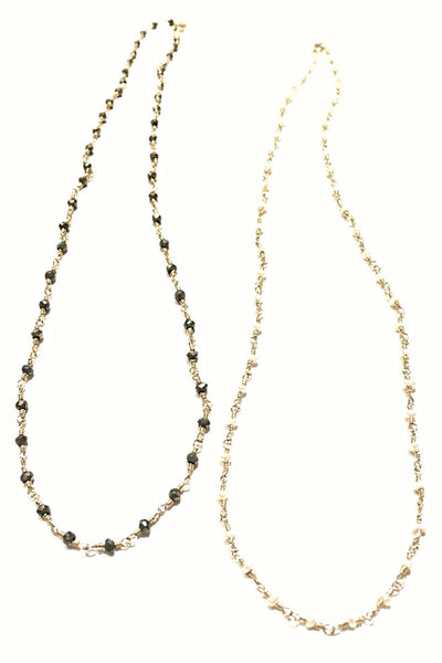 Handmade Stone and Chain Necklace, $48 | 14kt Gold-Filled | Light Years Jewelry