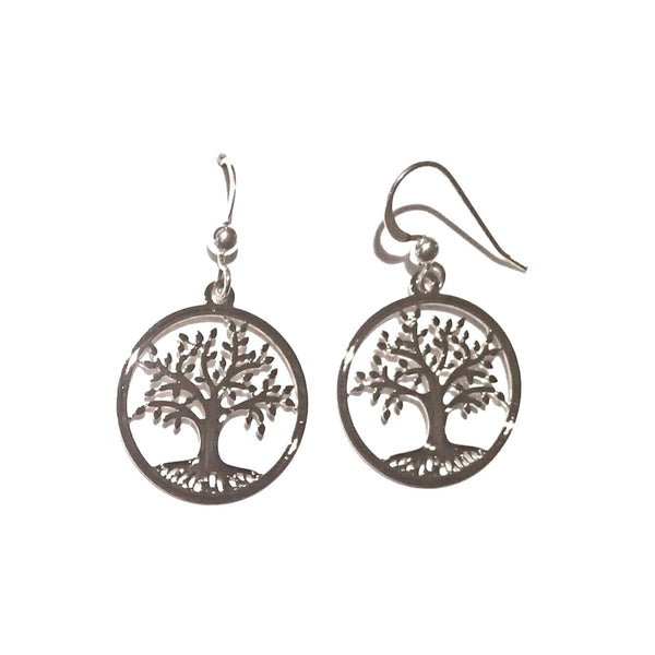 Sterling Silver Tree of Life Earrings, $14 | Sienna Sky | Light Years Jewelry