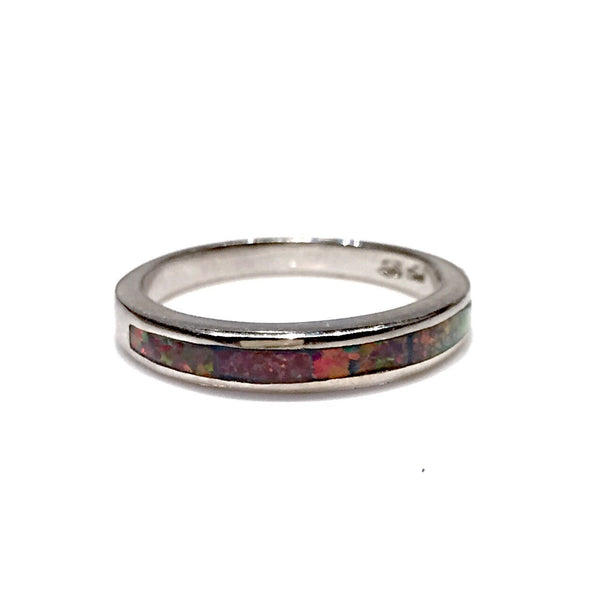 Opal Inlay Ring, $24 | Red Opal | Sterling Silver | Light Years Jewelry