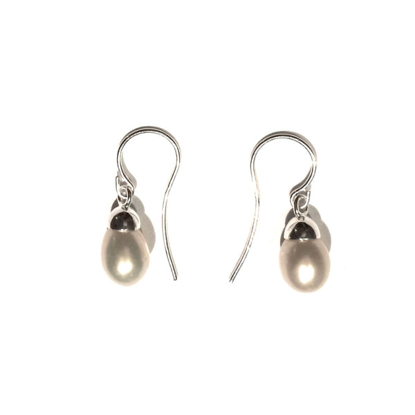 Pearl Drop Earrings, $14 | Sterling Silver | Light Years Jewelry