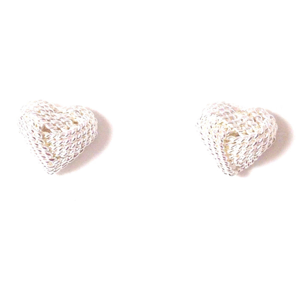 Love Knot Heart Posts, $12.75 | Sterling Silver Stud Earrings | Light Years Jewelry