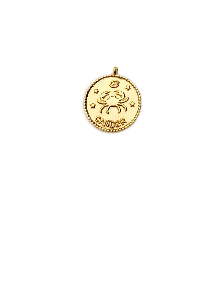 Zodiac Medallion Necklace | Cancer | Gold Plated Chain Pendant | Light Years