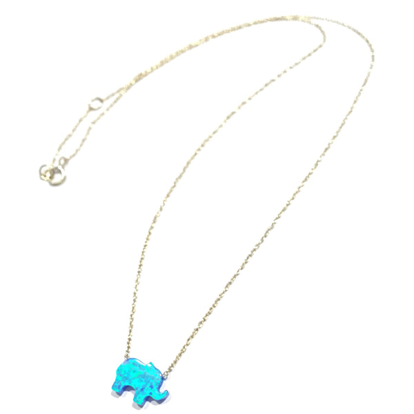 Opal Elephant Necklace, $22 | Gold Vermeil | Light Years Jewelry
