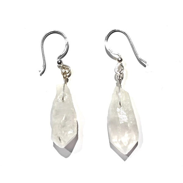 Raw Quartz Dangles, $14 | Sterling Silver Earrings | Light Years Jewelry