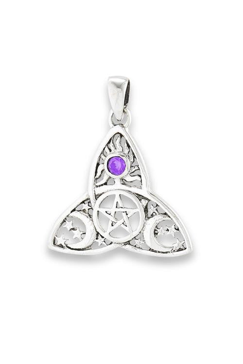 Celestial Triquetra Pendant, $18 | Sterling Silver | Light Years Jewelry