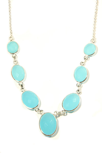 Faceted Chalcedony Necklace, $68 | Sterling Silver | Light Years Jewelry