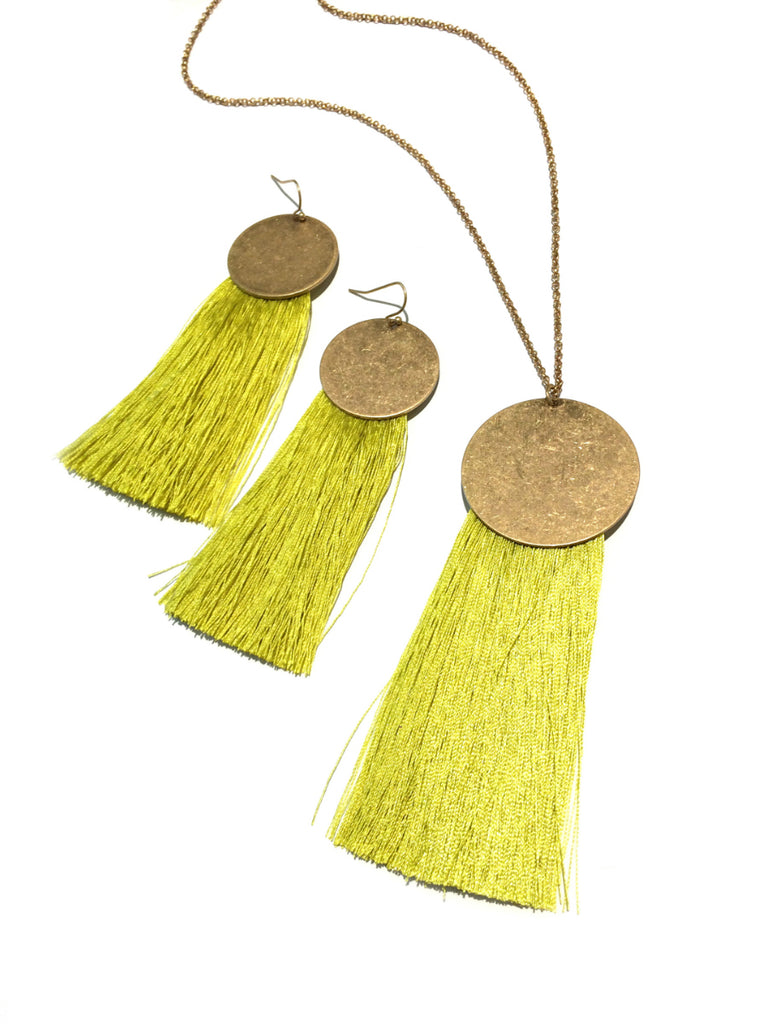 Long Tassel Fringe Necklace | Gold Fashion | Light years Jewelry