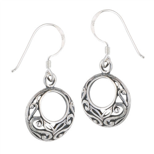 Circular Filigree Dangles, $15 | Sterling Silver | Light Years Jewelry