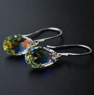Crystal Briolette Drop Earrings