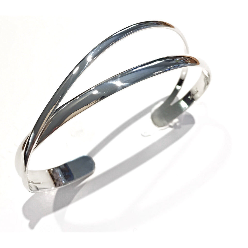 Double Band Silver Cuff, $56 | Sterling Bracelet | Light Years Jewelry
