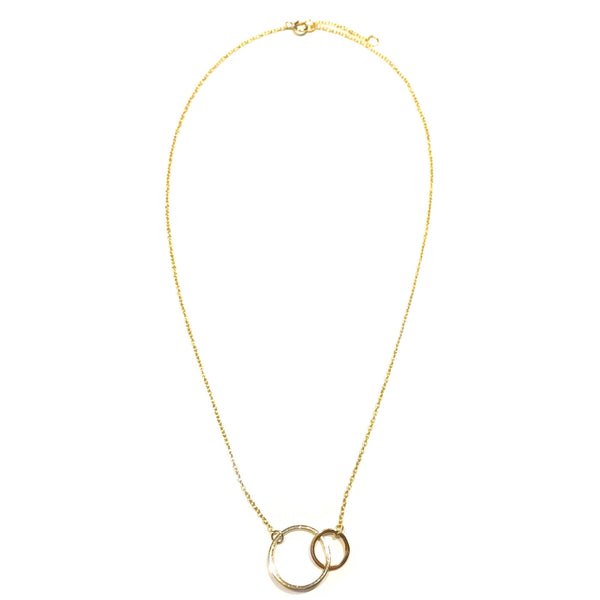 Interlocking Circles Necklace, $22 | Gold, Silver, Rose Gold | Light Years