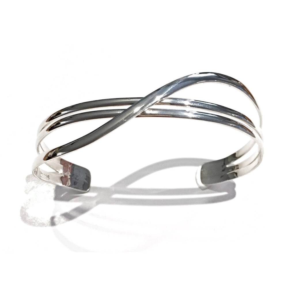 Triple Band Silver Cuff, $62 | Sterling Bracelet | Light Years Jewelry