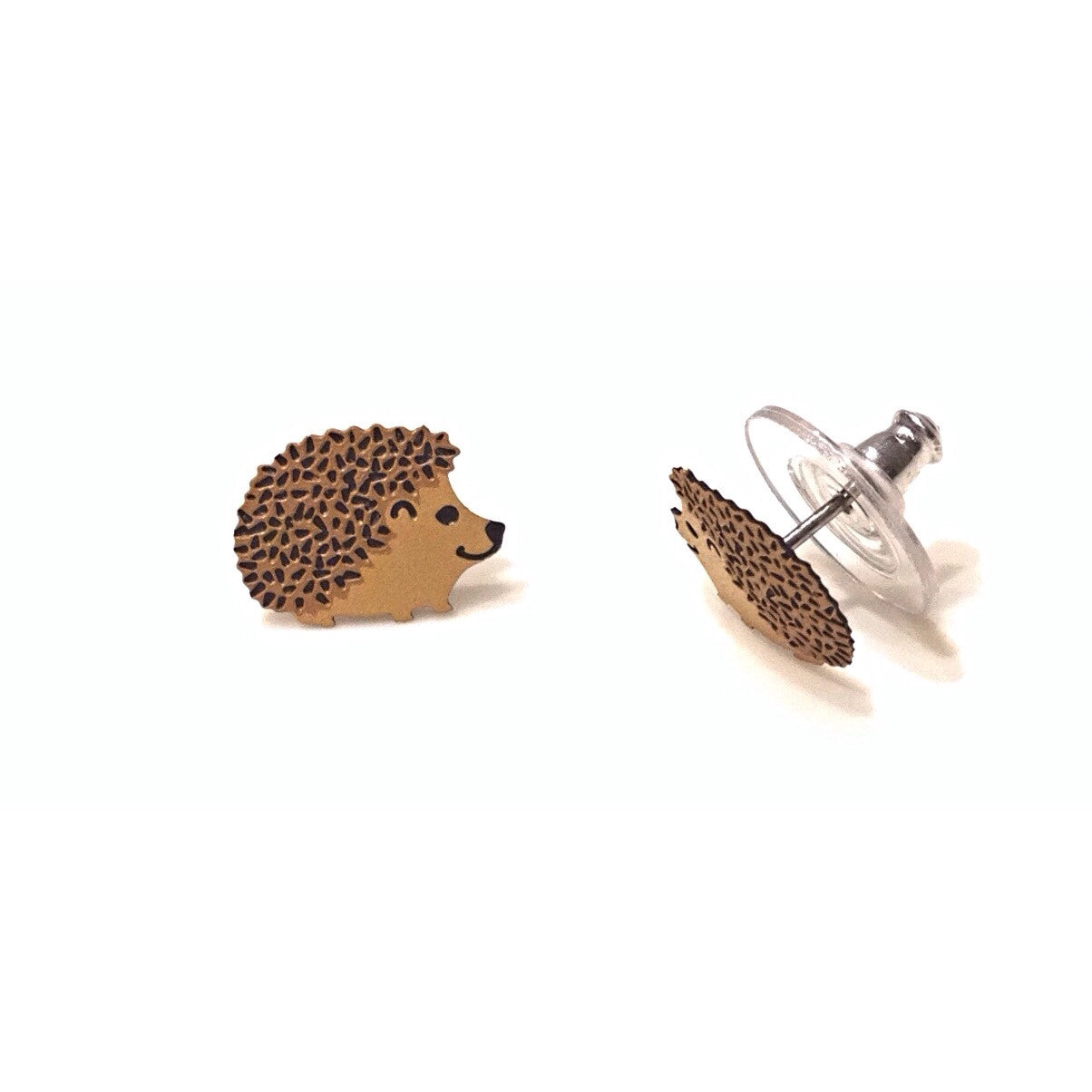 Hedgehog Posts By Sienna Sky, $14 | Sterling Silver Stud Earrings | Light Years Jewelry