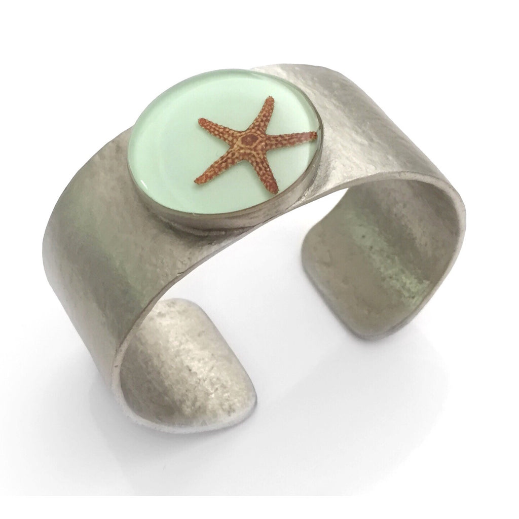 Aqua Starfish Cuff, $38 | Handmade Bracelet | Light Years Jewelry