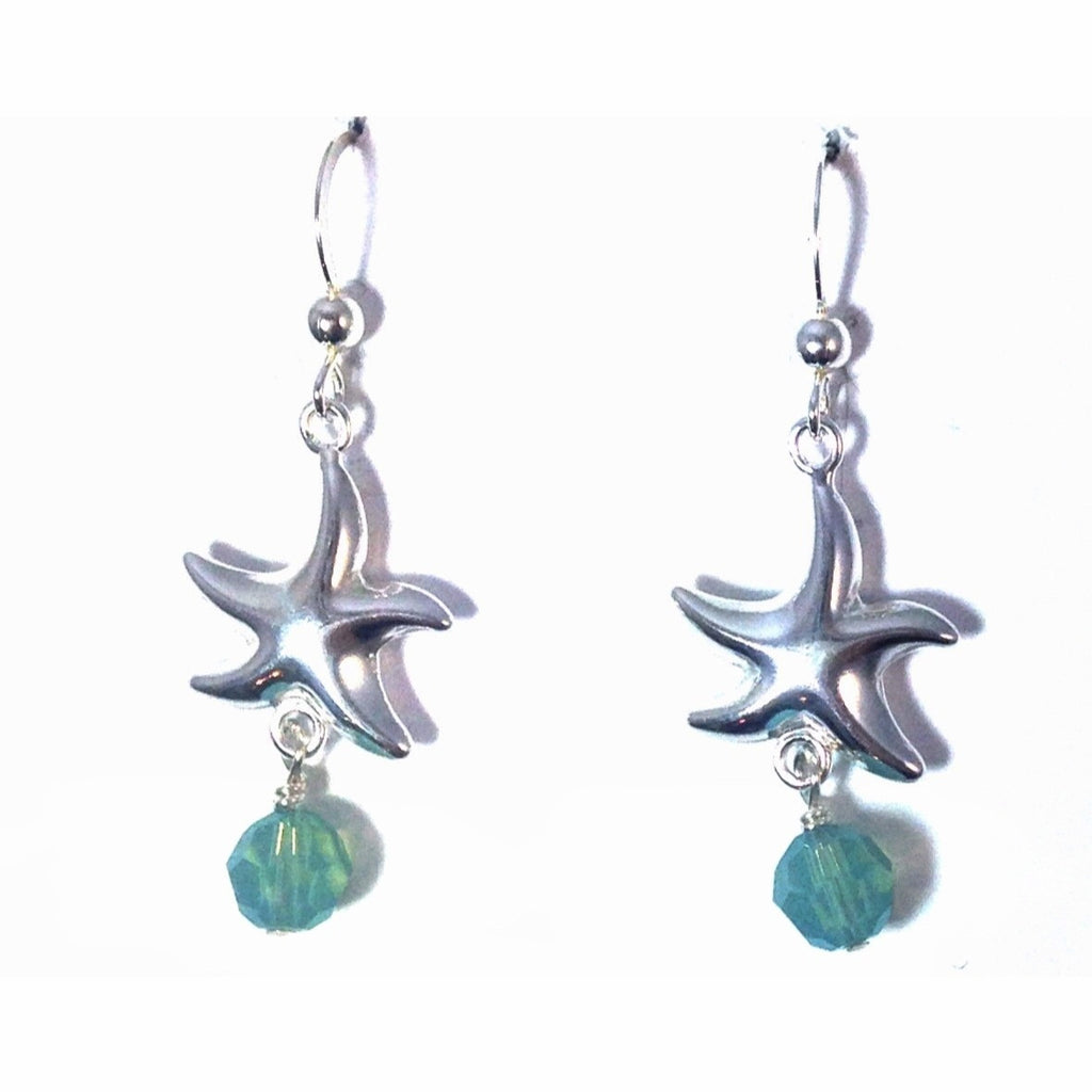 Starfish And Pacific Opal Earrings, $22 | Sterling Silver | Light Years Jewelry
