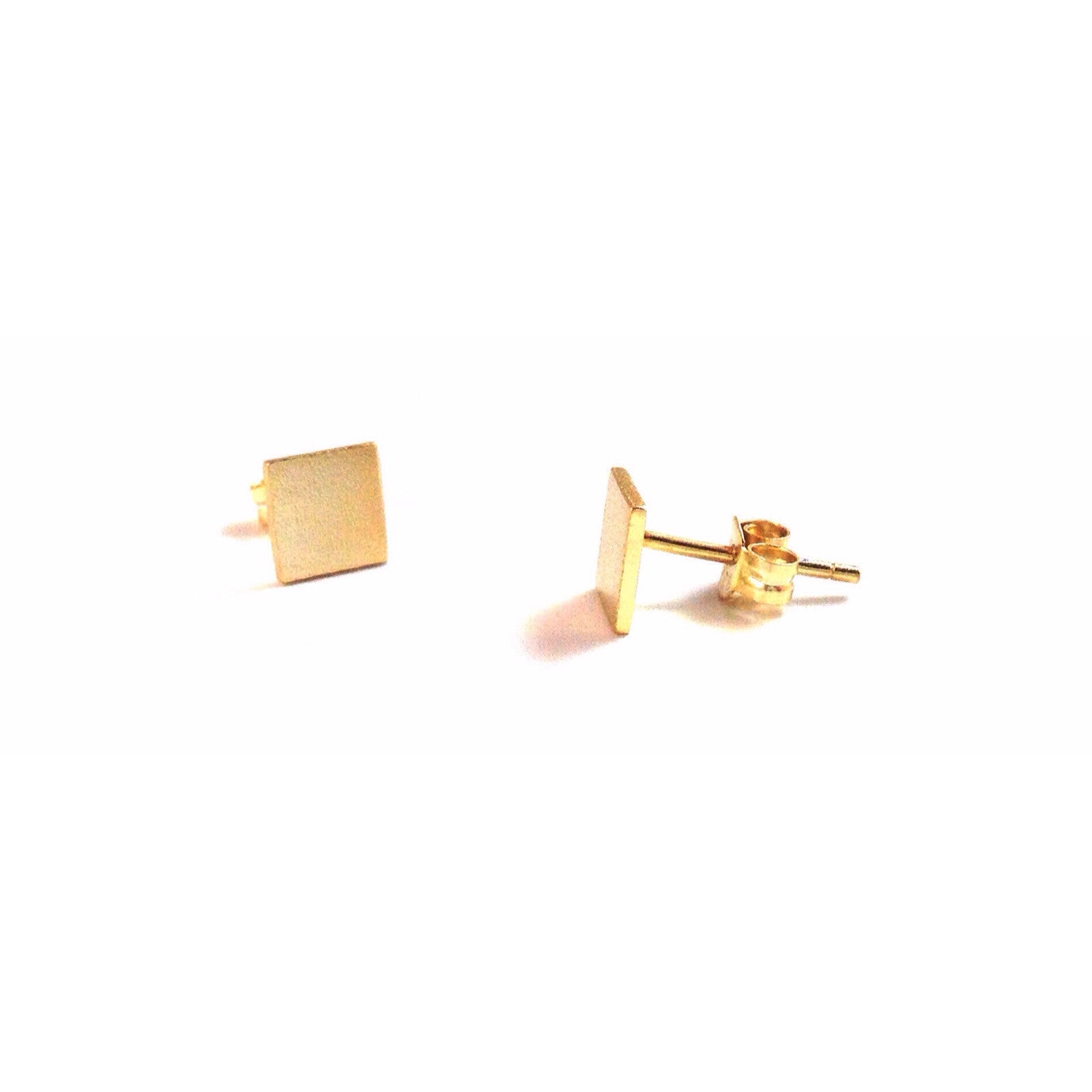 Modern Square Posts, $11 | Gold | Light Years Jewelry