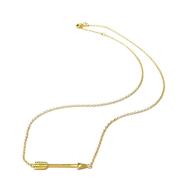 Gold Vermeil Arrow Necklace, $18 | Light Years Jewelry