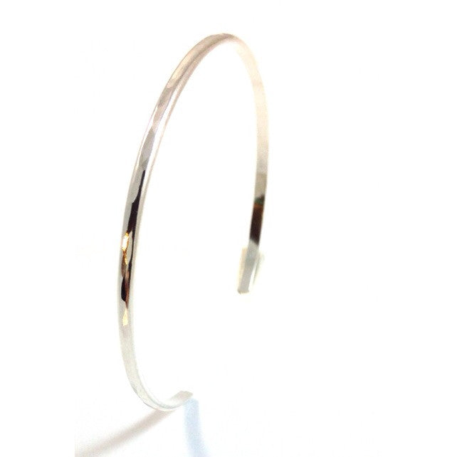 Slender Hammered Cuff Bracelet, $24 | Sterling Silver | Light Years Jewelry
