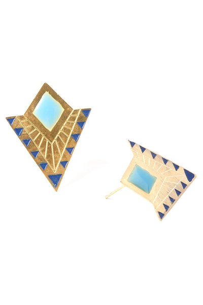 Deco Point Studs, $14 | Light Years Jewelry