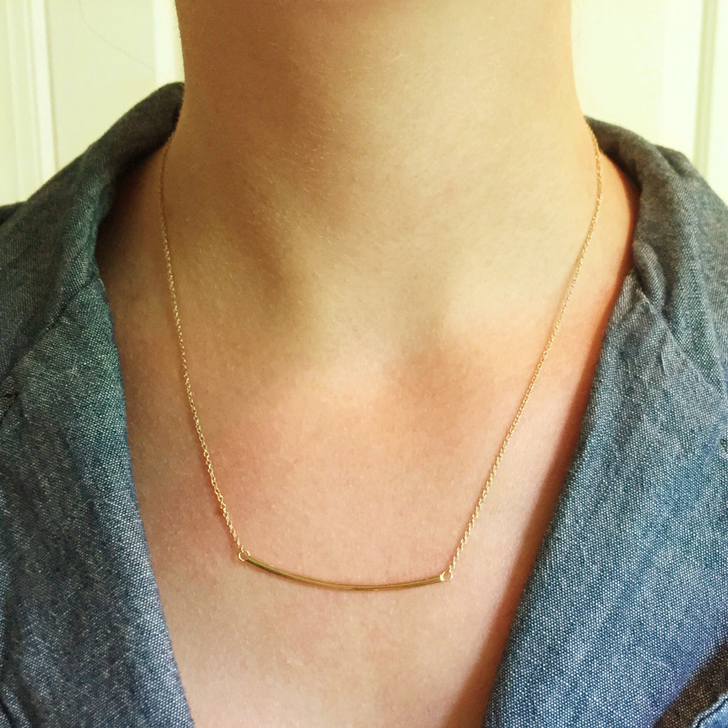 Elegant Bar Necklace