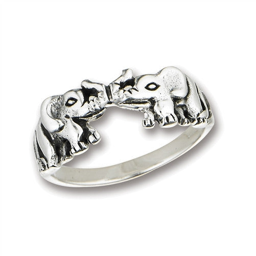 Sterling Silver Double Elephant Ring, $18 | Light Years Jewelry
