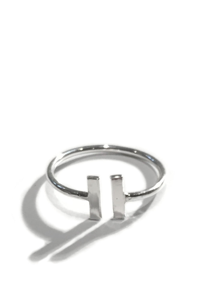 Double Open Bar Ring, $11 | Sterling Silver | Light Years Jewelry