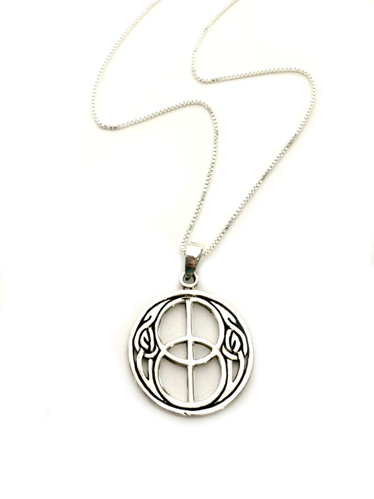 Double Peace Sign Celtic Pendant | Sterling Silver | Light Years Jewelry
