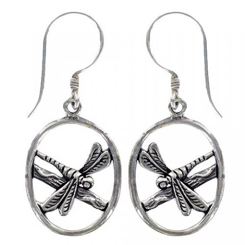 Sterling Silver Dragonfly on Branch Earrings $27 | Light Years Jewelry