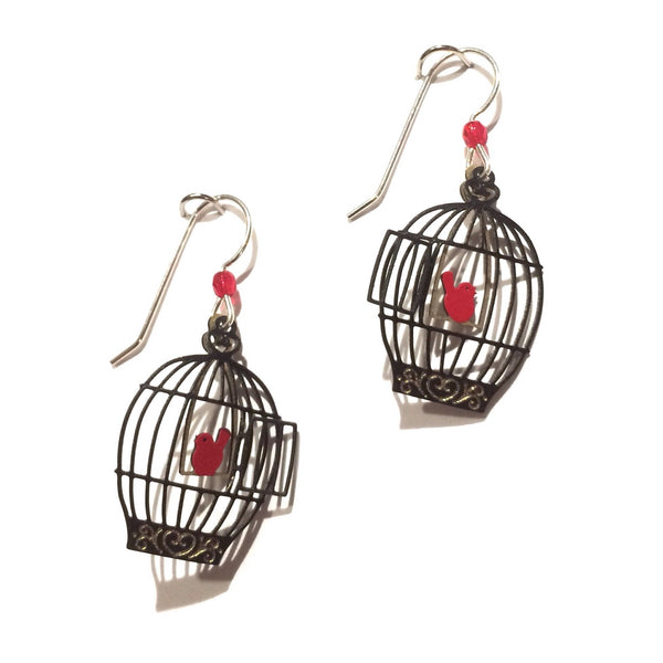 Open Bird Cage Earrings By Sienna Sky, $17 | Sterling Silver | Light Years Jewelry