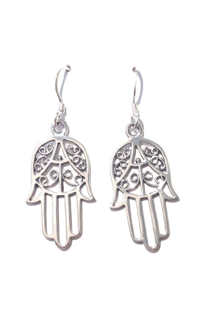 Hamsa Filigree Earrings, $16 | Sterling Silver | Light Years Jewelry
