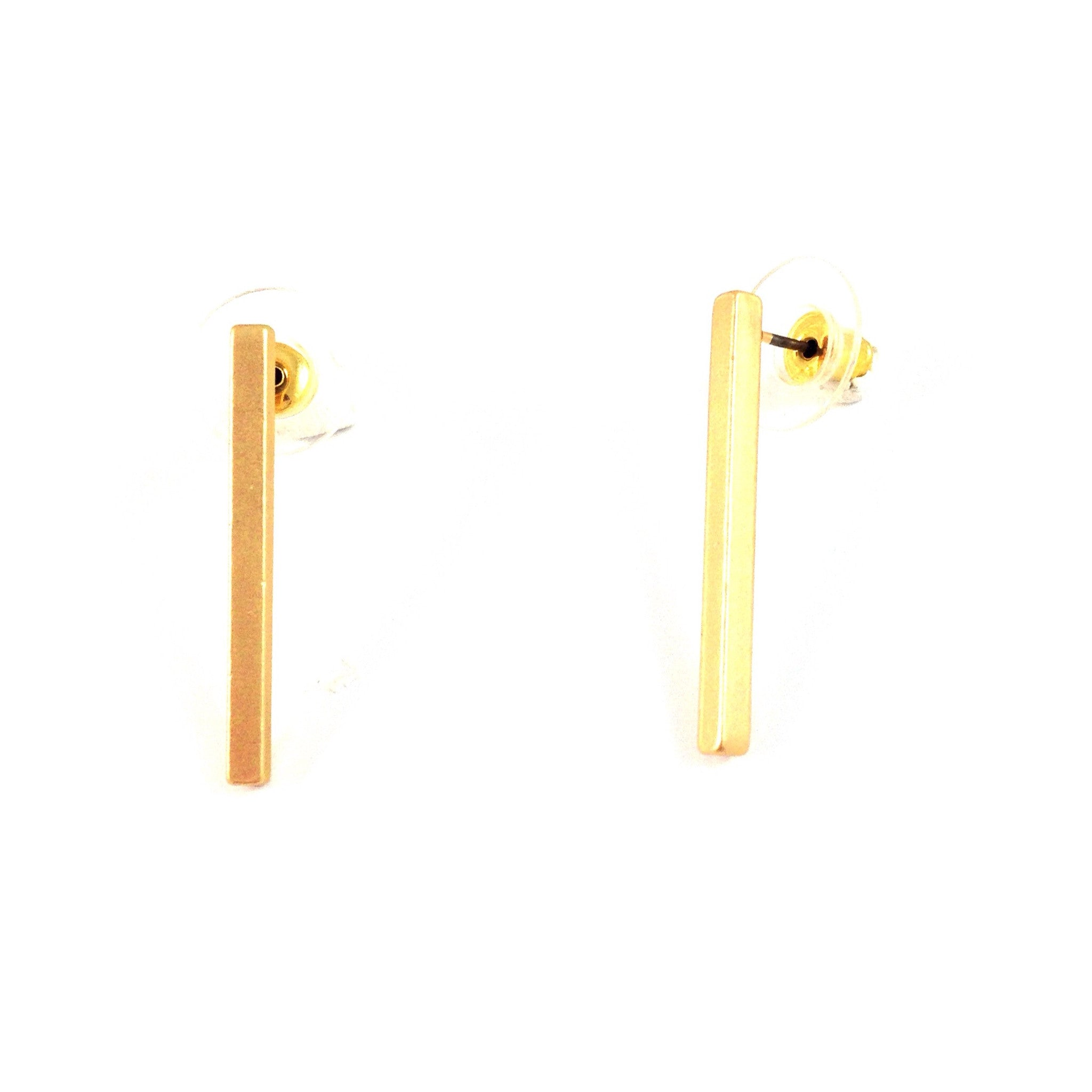 Square Bar Casting Posts $7 | Fashion Gold Stud Earrings | Light Years Jewelry