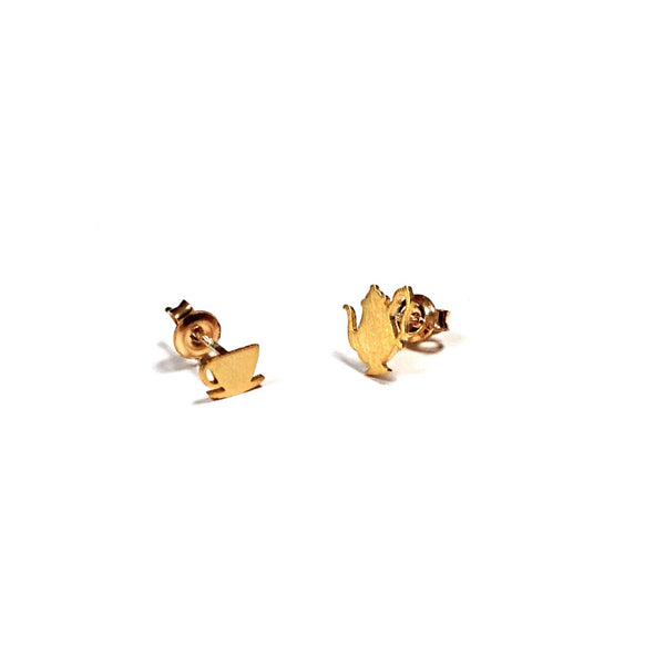 Tea Time Earrings | Gold Vermeil Sterling Silver Studs | Light Years