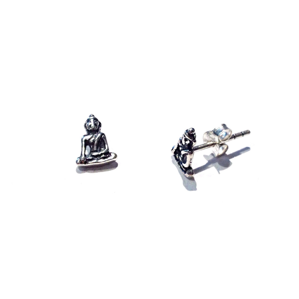 Sitting Buddha Post Earrings, $11 | Sterling Silver Stud | Light Years Jewelry
