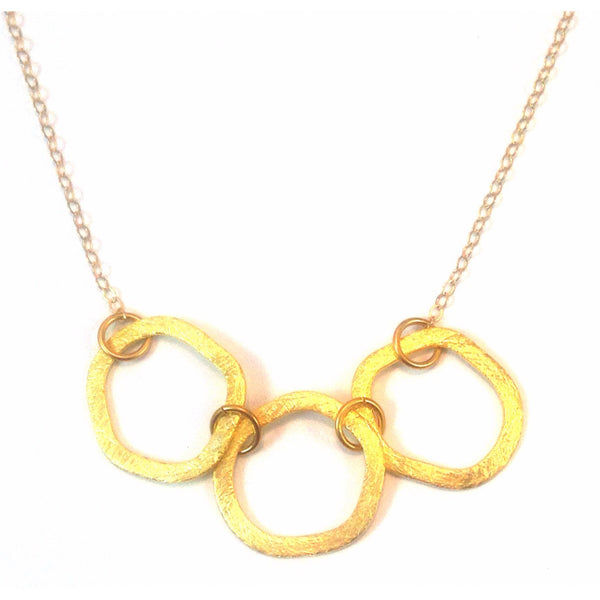 Triple Linked Ring Necklace, $42 | 14kt Gold | Light Years Jewelry