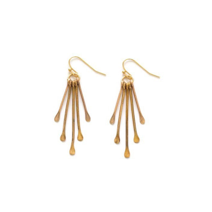 Petite Rain Goddess Earrings | Gold Plated Dangles Amano | Light Years