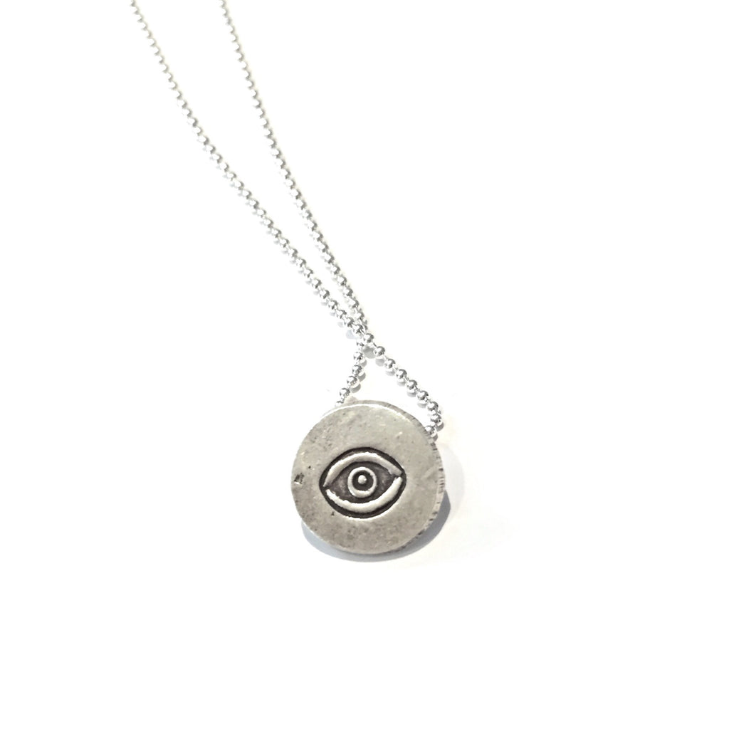 Sterling Silver Nazar Evil Eye Necklace, $20 | Light Years Jewelry