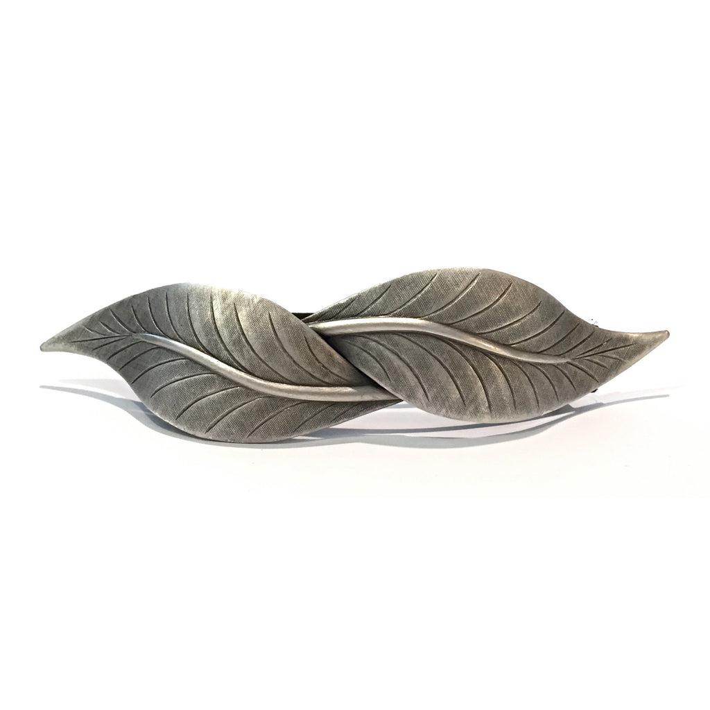 Two Leaves Barrette, $18 | Silver | Light Years Jewelry