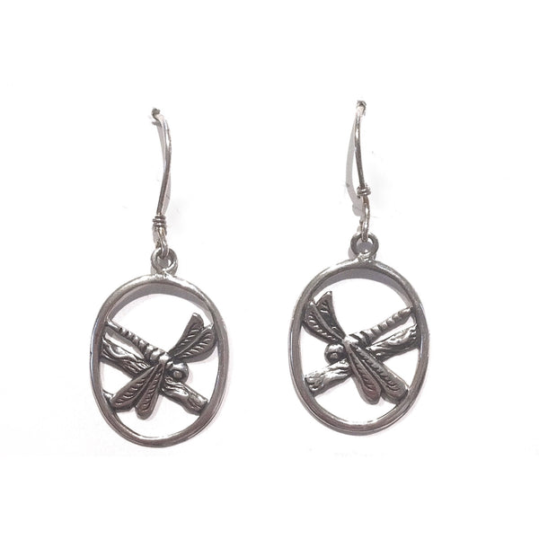 Sterling Silver Dragonfly on Branch Earrings, $27 | Light Years Jewelry
