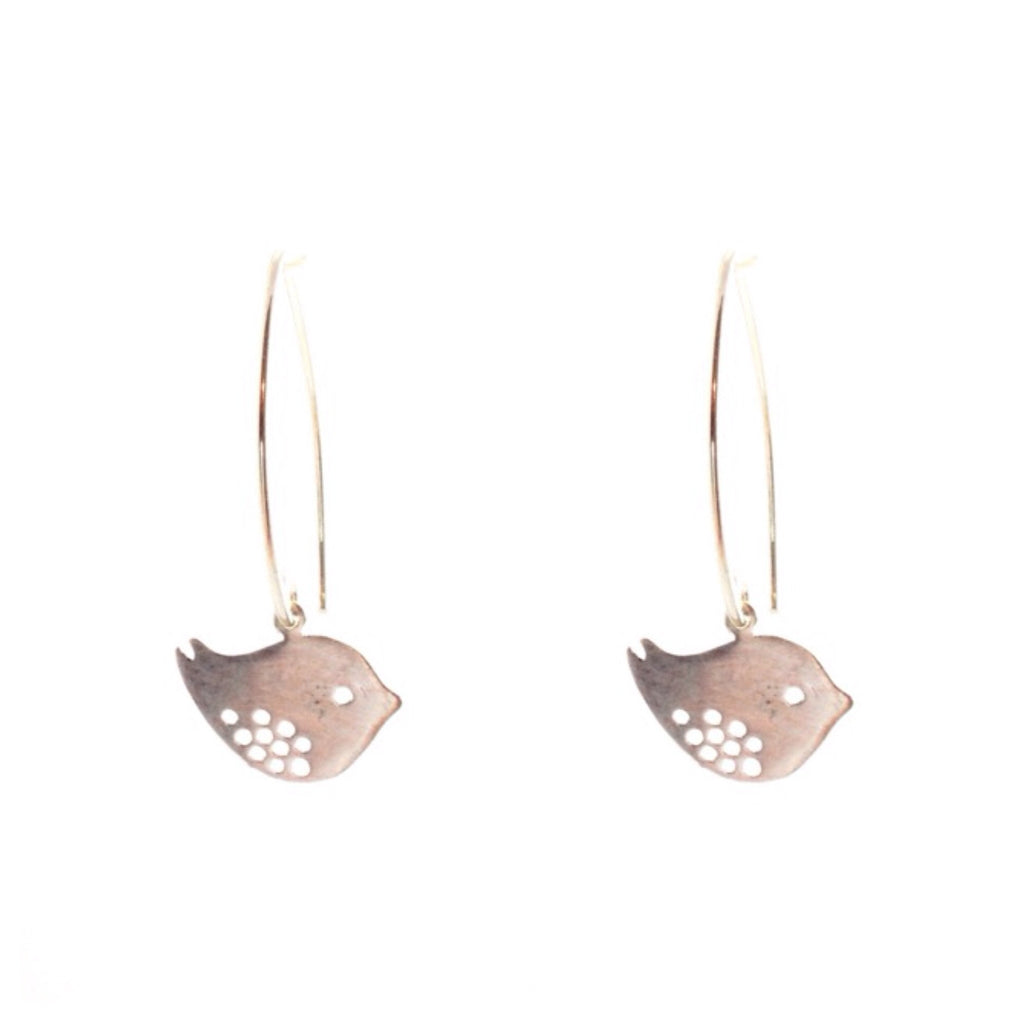 Spotted Bird Marquis Dangles, $22 | Sterling Silver Earrings | Light Years Jewelry