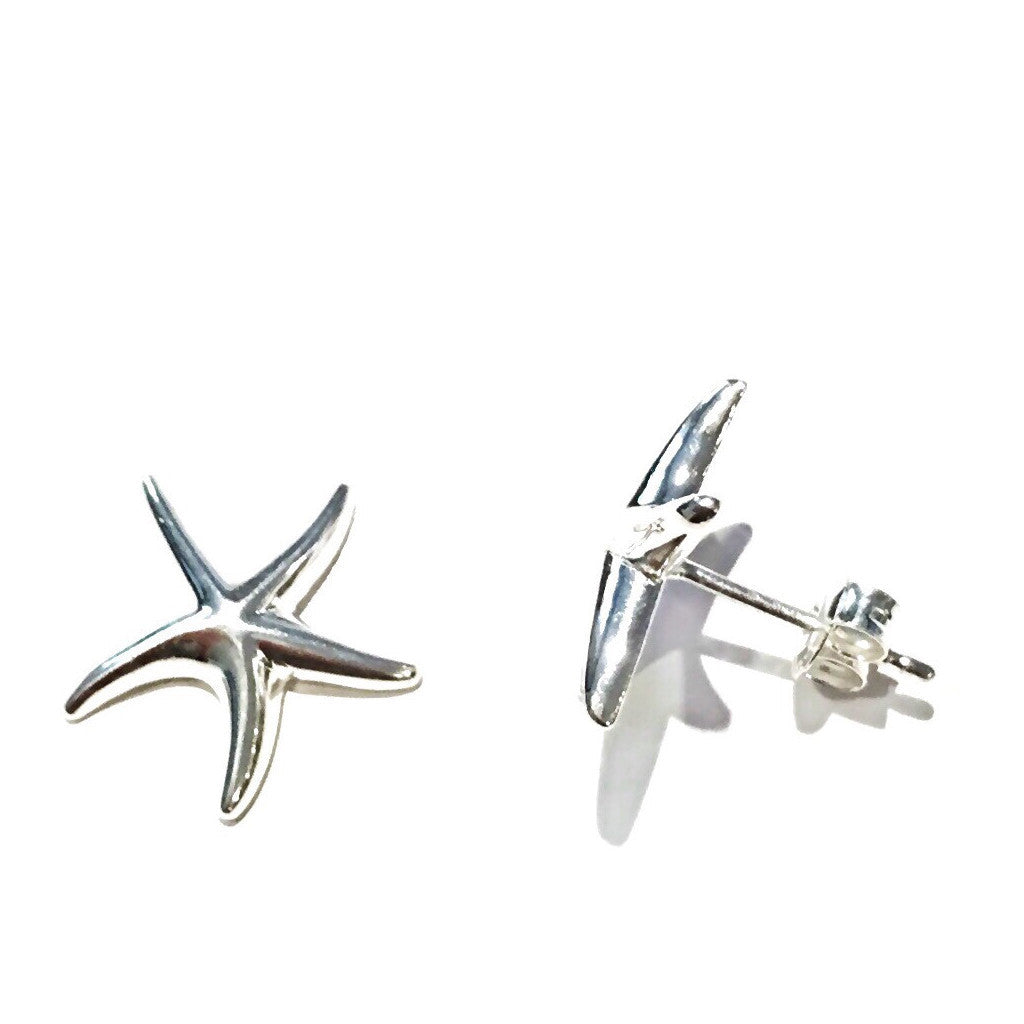 Large Silver Starfish Posts, $12.50 | Sterling Stud Earrings | Light Years Jewelry