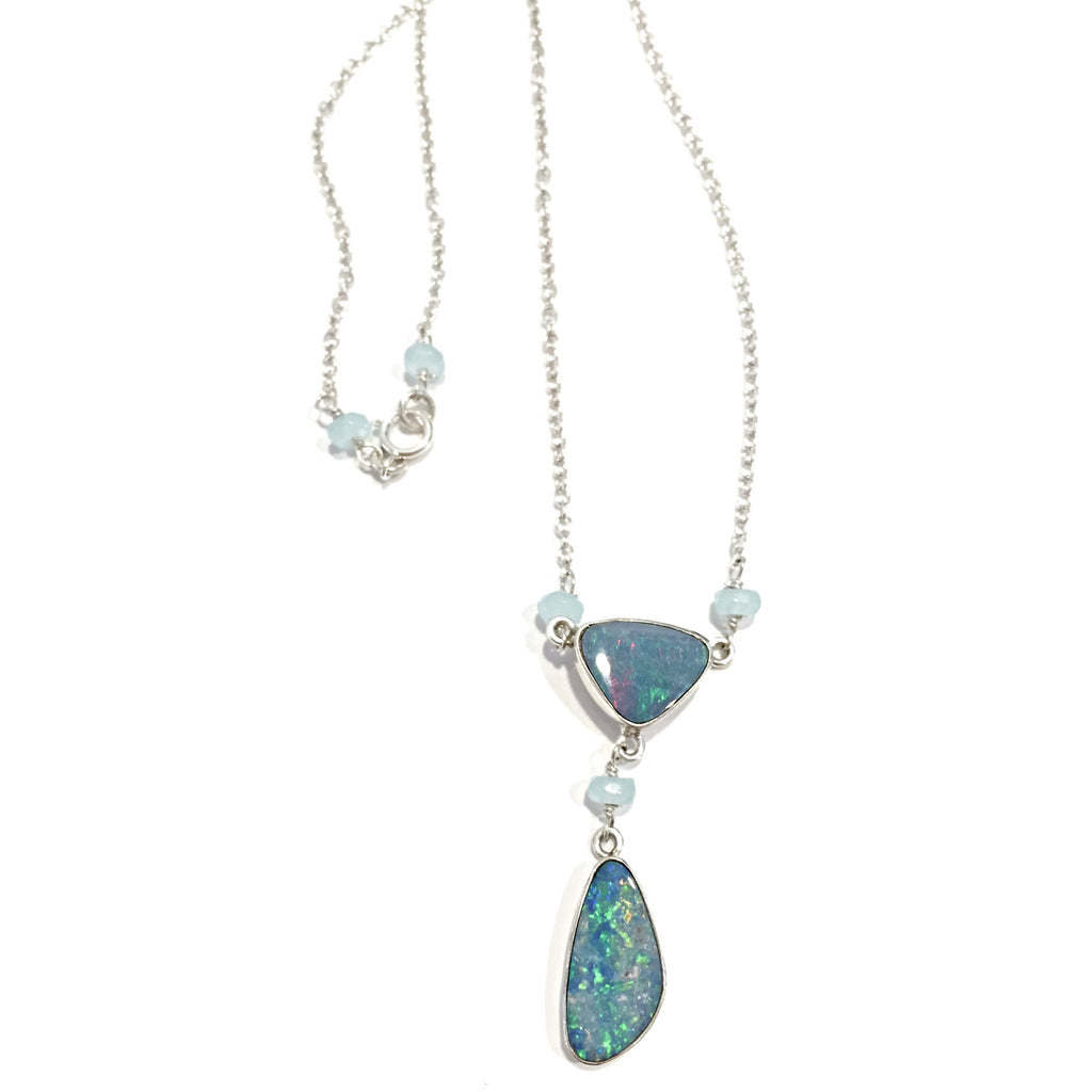 Australian Opal Necklace, $58 | Sterling Silver | Light Years Jewelry