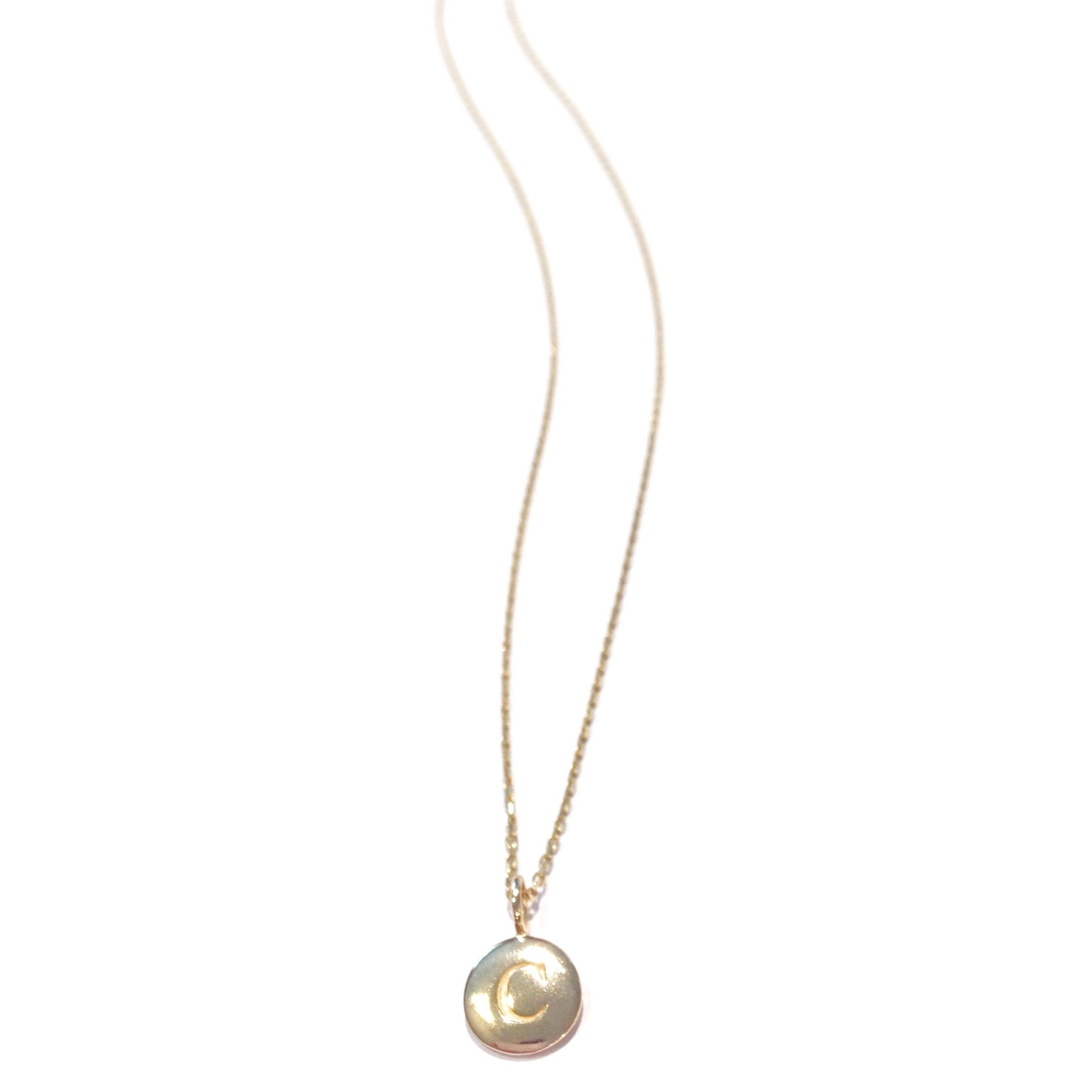 14kt Gold-Filled Initial Necklace, $22 | Light Years Jewelry