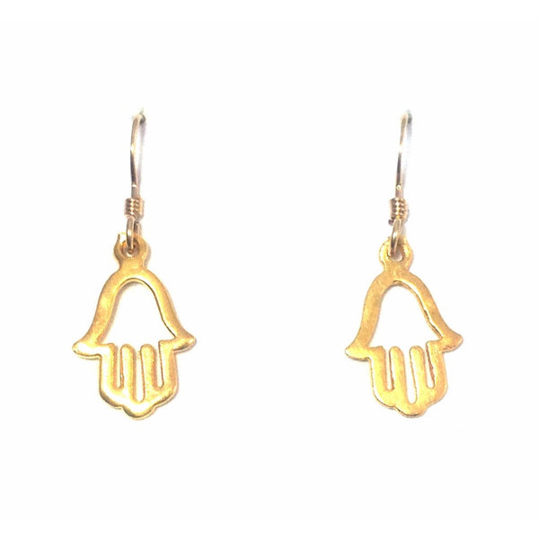 Hamsa Dangles, $18 | 14kt Gold Earrings | Light Years Jewelry