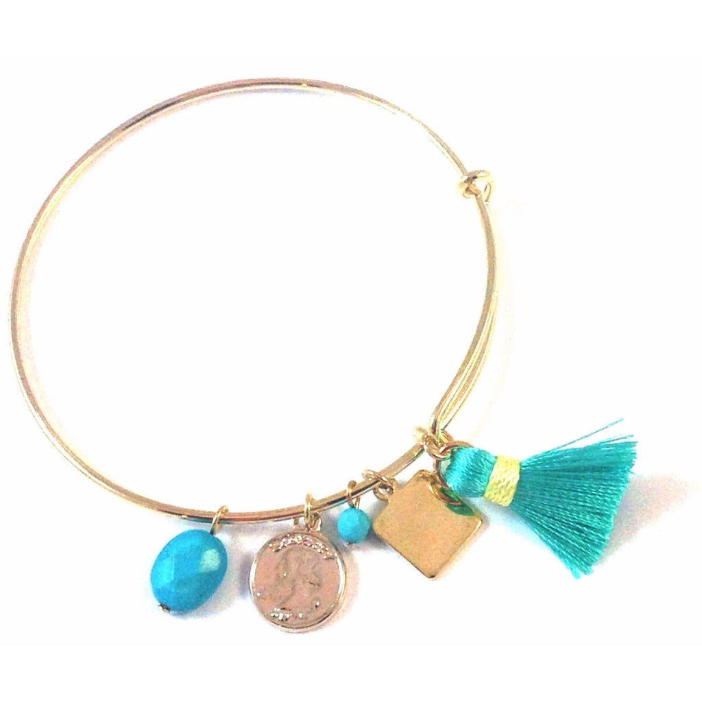 Coin Tassel Bracelet, $14 | Fashion Bangle | Light Years Jewelry